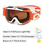 POC Iris Comp Race Stuff Goggles (White/Orange, Medium)