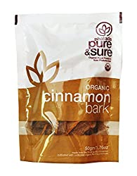 Pure & Sure Organic Bark, Cinnamon, 50g