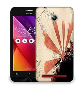 Snoogg Orange Sunlight Designer Protective Back Case Cover For ASUS ZENFONE GO