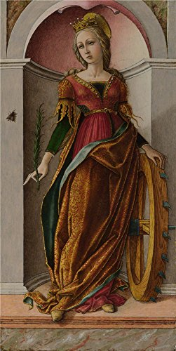 Oil Painting 'Carlo Crivelli - Saint Catherine Of Alexandria,about 1491-4', 16 x 32 inch / 41 x 81 cm , on High Definition HD canvas prints gifts for Laundry Room, Living Room And Nursery Decoration (New York State Of Mind Karaoke compare prices)
