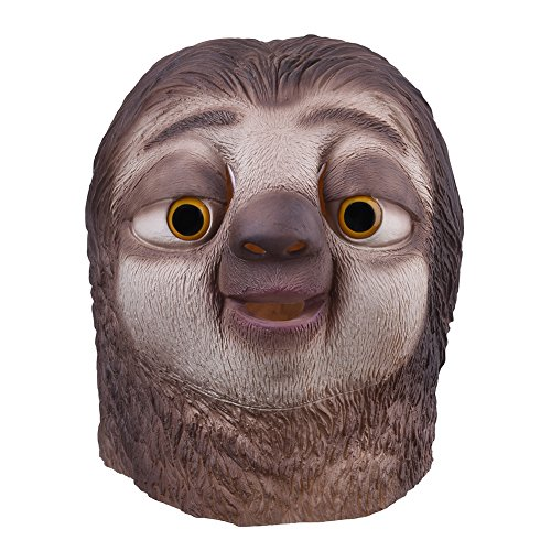 [Hot Movie Zootopia Flash Sloth Cosplay Mask Fancy Dress Party Halloween Costume] (666 Halloween Costume)