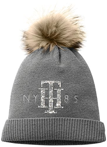 Tommy Hilfiger TH Sparkle Hat, Berretto a Maglia Donna, Grau (Medium Grey Htr 992)