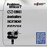 7 inch euro jdm sticker decal Semiflush Stance Old school Oem Toyota Fail Silliest Haters Smoke