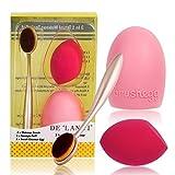 DE'LANCI Professionelle Oval kosmetische Creme Powder Blush Make-up Pinsel