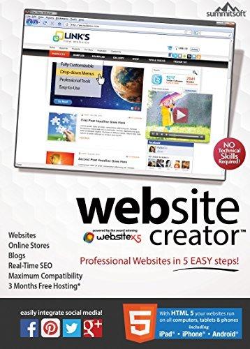 Website Creator v9 [Download] (Web Site Software compare prices)