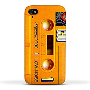 FUNKYLICIOUS iPhone (4, 4s) Back Cover Cassette Tape Design (Multicolour)