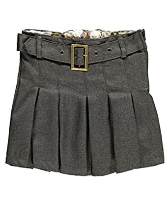 eddie bauer little girls 39 belt pleat flannel scooter gray 5 clothing. Black Bedroom Furniture Sets. Home Design Ideas