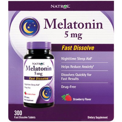 only $10, save $30 (75% off)–Natrol – Melatonin 5mg 300 Tablets