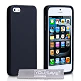 Yousave Accessories Silicone Case for iPhone 5/5S - Black