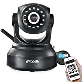 ROCAM NC300 Wireless IP Pan/Tilt/ Night Vision Network Camera Built-in Microphone With Phone remote monitoring support Black