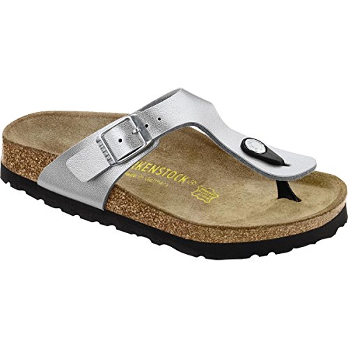 Birkenstock Gizeh Sandal (Little Kid/Big Kid),Silver,34 M EU (3-3.5 M US Big Kid)