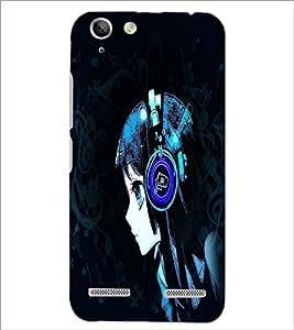 PrintDhaba Music Girl D-4953 Back Case Cover for LENOVO LEMON 3 (Multi-Coloured)