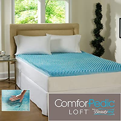 Beautyrest 3 Inch Sculpted Gel Memory Foam King Mattress Topper Supportive & Comfortable Back Pain Relief by Beautyrest