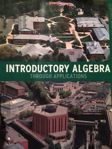 Middlesex Community College Introductory Algebra Through Applications