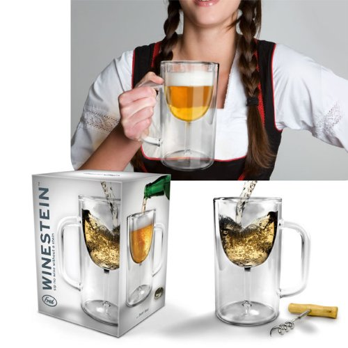 Winestein Double-Walled Glass Mug