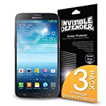 Galaxy Mega 6.3 Protection écran - Invisible Defender [3 Flim/HD Clarté] [Garantie à vie] High Definition (HD) Clarté Film Screen Protector Films de protection d'écran pour Samsung Galaxy Mega 6.3