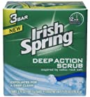 Deep Action Scrub Deodorant Soap by Irish Spring, 3 Count
