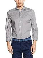 Seidensticker Camisa Vestir Super Slim (Gris)