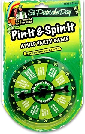 St. Patrick's Day Pin & Spin Drinking Game for Adults