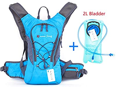 WACOOL 2L Waterproof Hydration Bladder Pack, Cycling Backpack, Lightweight Daypack