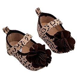 Baby Girls Flower Shoes Soft Crib Infants Leopard Zebra Size 1 Us