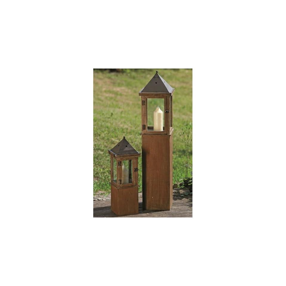 Holz Glas Kerze Windlicht Braun H60 110cm Weitere Artikel
