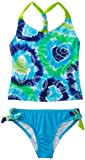 Speedo Girls 7-16 Tye Dye Love Scrunchy Back Tankini Set Swimsuit