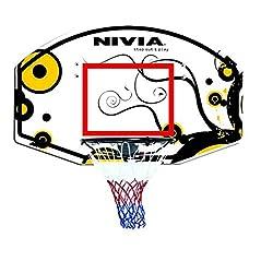 Nivia Basketball Backboard, 71 x 45 x 3 cm (Black/Yellow)