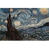 Starry Night, c. 1889 Poster Print by Vincent van Gogh, 36x24 Fine Art Poster Print by Vincent van Gogh, 36x24...
