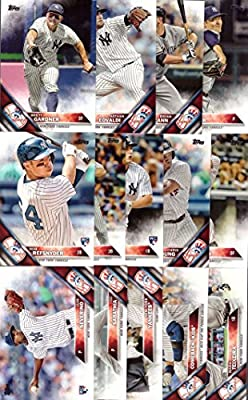 2016 Topps Series 1 New York Yankees Baseball Card Team Set - 14 Card Set - Includes Mark Teixeira, Brett Gardner, Jacoby Ellsbury, Nathan Eovaldi, Luis Severino, and more!