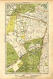 LONDON: Putney Vale,Roehampton,Barnes,Roehampton Park,Barnes Common, 1928 map