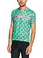 JOLLYWEAR Maillot Ciclismo Fashion Carlino (Verde Agua)