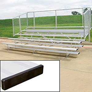 15 Stationary Aluminum Bleachers 5 Rows from SSG / BSN