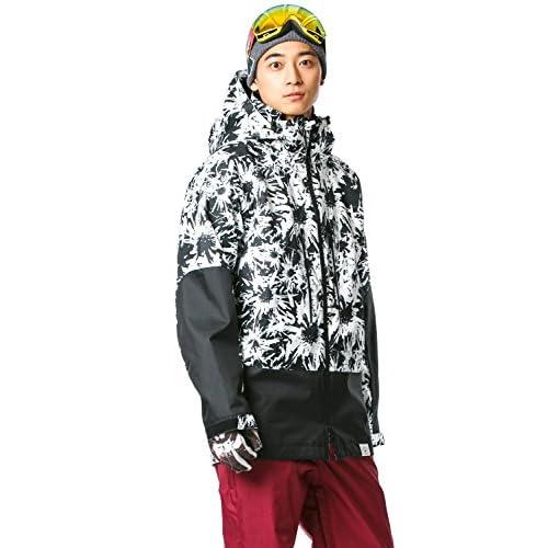 16'新作 43DEGREES スノーボードウェア スキーウェア スノボウェア メンズ 上下セット 33. Flower × Burgundy Lサイズ