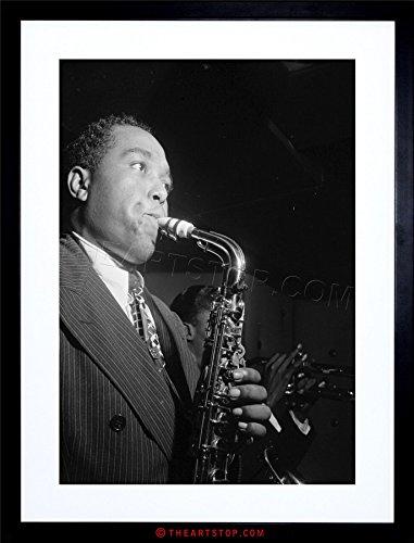 MUSIC VINTAGE PHOTO CHARLIE PARKER JAZZ MUSIC SAX LEGEND FRAMED PRINT F12X7572 (Sax Vintage compare prices)