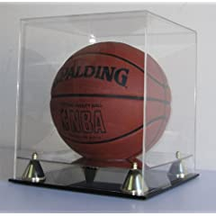 Buy 98% UV Protection Basketball Soccer Ball Display Case Holder with Crystal Clear cover, ALL 4 sides visible (AC-BB05) by NULL