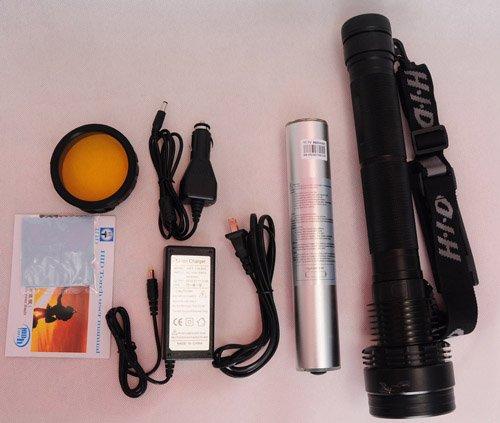 Sunworld Hid Xenon 8700Mah Torch Flashlight Sos For Outdoor 85W 8500L 3 Mode +2 Strobe(Sos)-Black