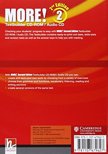 More! Level 2 Testbuilder CD-ROM/Audio CD Second Edition