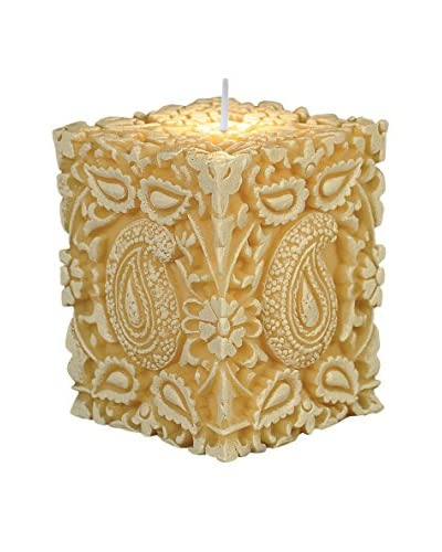 Volcanica Trance Raised Candle, White