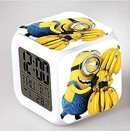 BestETCshop Minion kid Night Light Temperature Electronic LED Alarm Clock (7)
