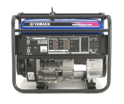 Yamaha YG6600D 6,600 Watt 357cc OHV 4-Stroke Gas Powered Portable Generator (CARB Compliant)