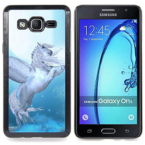 Pegasus Wings Blue White Horse Animal Custodia protettiva Progettato rigido in plastica King Case For Samsung Galaxy On5 SM-G550FY G550