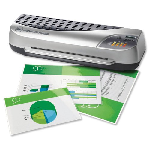 GBC HeatSeal H520 A3 Laminator Office High Speed up to 350 micron 6.3kg W615xD185xH240mm Ref 1702870