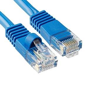 Cat5e RJ45 Patch Ethernet LAN Network Cable - 50 ft Blue Color