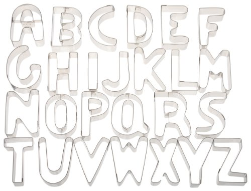 Ateco Alphabet Stainless Steel Cookie Cutter Set