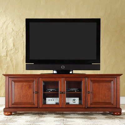 Crosley Furniture Alexandria 60-Inch Low Profile TV Stand, Classic Cherry