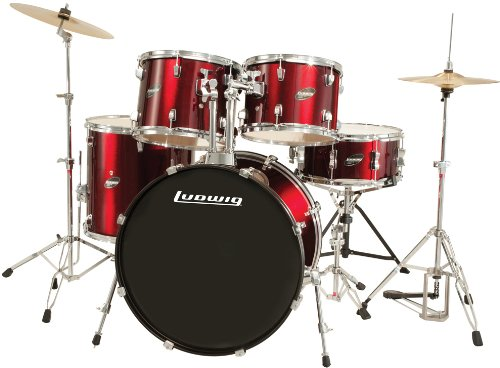 ludwig-5-piece-accent-drive-drum-set-with-hardware-cymbals-wine-red