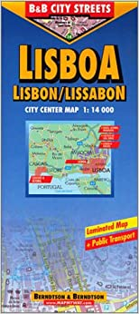Berndtson Lisbon/Lisboa/Lissabon City Streets Map (City