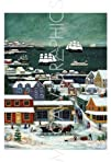Winter in Nantucket Harbor By Janet Munro Art Print Poster