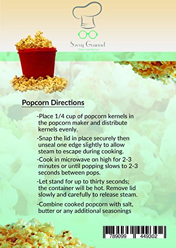 Bpa free silicone popcorn maker for microwave healthy and Savvy home and garden